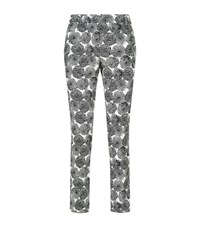 Peserico Dot Circle Cigarette Trousers Female Multi