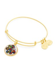 Alex And Ani Butterfly Art Infusion Charm Bangle Gold