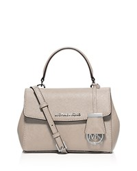 Michael Michael Kors Ava Extra Small Saffiano Leather Crossbody Cement Silver