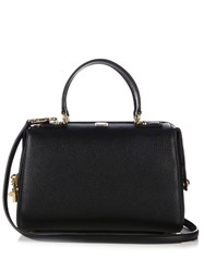 Dolce And Gabbana Bowling Grained Leather Tote Black