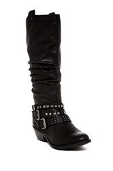 Report Kathye Slouch Buckle Boot Black