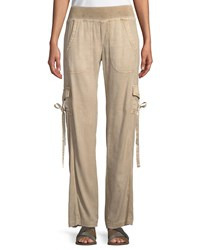 Xcvi Vroni Relaxed Cargo Pants With Grommet And Tie Detail Autumn Bronze