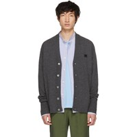 Acne Studios Grey Neve Face Cardigan
