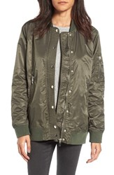 Blank Nyc Women's Blanknyc Long Nylon Bomber Jacket