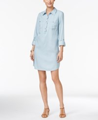 Styleandco. Style Co. Petite Denim Shirtdress Only At Macy's Ice Wash