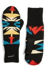 Pendleton Women's Fleece Lined Knit Wool Mittens