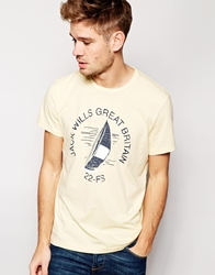 Jack Wills T Shirt With Sailing Graphic Sunflower