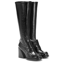 Chloe Adelie Leather Boots Black