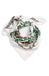 Tory Burch Women's Garden Party Square Silk Scarf