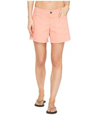 The North Face Boulder Stretch Shorts Burnt Coral Women's Shorts Multi