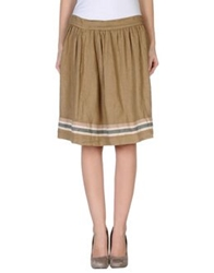 Ottod'ame Knee Length Skirts Ivory