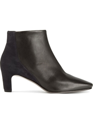 Roberto Del Carlo Colour Block Ankle Boots Black