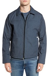 Rvca Men's Spanky Trucker Jacket Navy Heather
