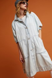 Anthropologie Bleached Trench Denim Light
