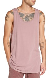Zanerobe Men's Rugger Elongated Tank Pigment Mauve