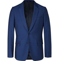 Paul Smith Navy Soho Slim Fit Wool And Mohair Blend Suit Jacket Royal Blue