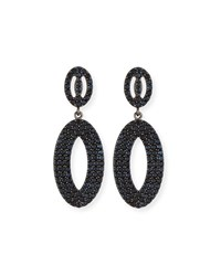 Margo Morrison Black Spinel Loop Earrings
