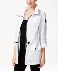 Styleandco. Style And Co. Petite Hooded Zip Front Jacket Only At Macy's Bright White