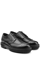 Tod's Tods Leather Brogues With Platform Sole Black