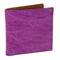 40 Colori Violet Solid Washed Mogador And Leather Wallet Pink Purple
