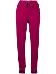 Dolce And Gabbana Side Logo Track Pants Pink And Purple