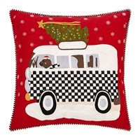 Mackenzie Childs Home For The Holidays Cushion 50X50cm