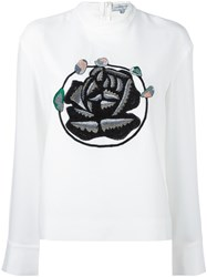 J.W.Anderson Roses Patch Sweatshirt White
