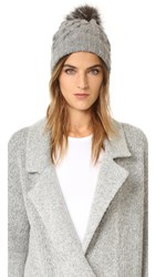 Eugenia Kim Andrea Pom Pom Beanie Light Gray