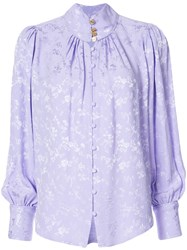 Maison Mayle Floral Embossed Blouse Pink And Purple