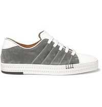 Berluti Playfield Suede And Leather Sneakers White