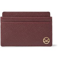 Kingsman Smythson Cross Grain Leather Cardholder Burgundy