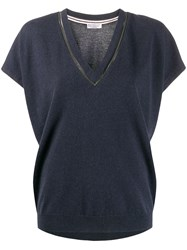 Brunello Cucinelli Brass Embellished Knitted Top 60