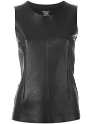 Majestic Filatures Contrast Front Tank Black