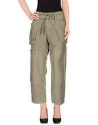 Nlst Trousers Casual Trousers Military Green