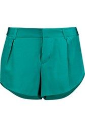 Alice Olivia Butterfly Silk Shorts Turquoise