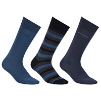 Boss Logo Boss Cotton Socks Gift Set One Size Pack Of 3 Blue