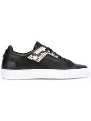 Oamc Snakeskin Detail Sneakers Black