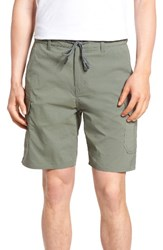 Brixton Men's Transport Relaxed Fit Cargo Shorts Dark Sage