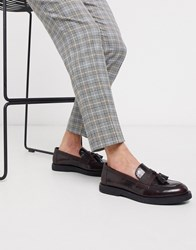 Kg By Kurt Geiger Chunky Loafer In Oxblood Red