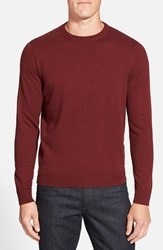 Men's Big And Tall Nordstrom Cotton And Cashmere Crewneck Sweater Burgundy Spice