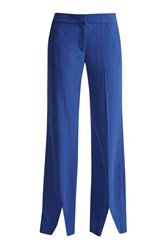 Great Plains Lola Drape Wide Leg Trousers Blue