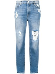 Pinko Ripped Cigarette Jeans Blue