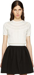 Miu Miu Ivory Pointelle Sweater