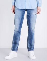 Calvin Klein Sculpted Slim Fit Mid Rise Jeans Bang On Blue