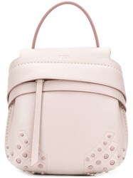 Tod's Wave Backpack Pink