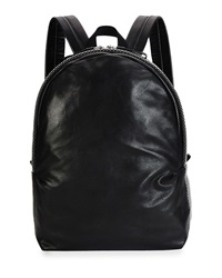 Alexander Mcqueen Men's Studded Leather Backpack Black