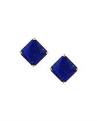 Ippolita Rock Candy 18K Square Lapis Stud Earrings Blue