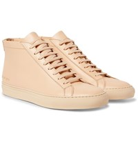 Common Projects Original Achilles Leather High Top Sneakers Beige