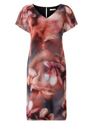 Jacques Vert Chiffon And Jersey Printed Tunic Multi Coloured Multi Coloured