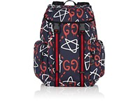 Men's Guccighost Print Backpack Navy